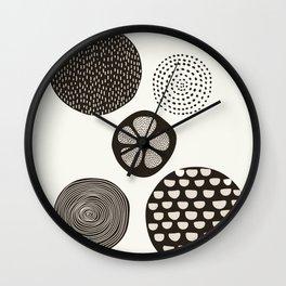 Abstract Circles in Cream Wall Clock