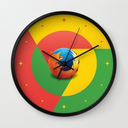Chrome Fire - Graphic Art Wall Clock
