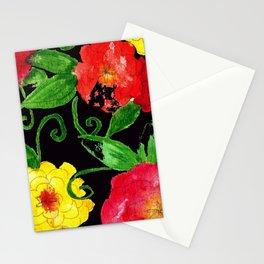 Vintage Wallpaper Black Stationery Cards