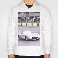 mercedes Hoodies featuring Mercedes Benz Silberpfeil with Stirling Moss by Premium
