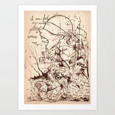No God without the Devil Art Print