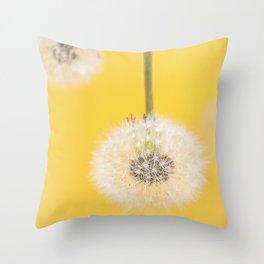 Whishes on yellow Throw Pillow