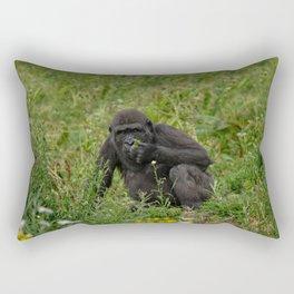 Baby Gorilla Rectangular Pillow