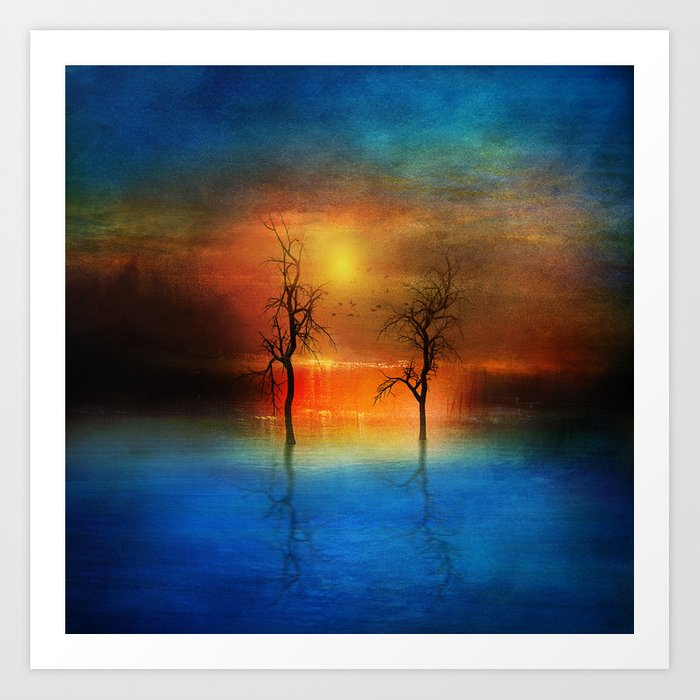 waterfall of light Art Print