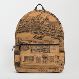 Map Of Vancouver 1890 Backpack