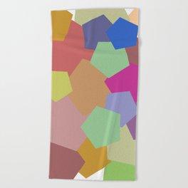 Colliding Colors Beach Towel