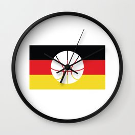 Germany Flag Soccer design with German Shield Wall Clock