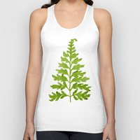 lime Tank Tops featuring Lime Fern by Cat Coquillette