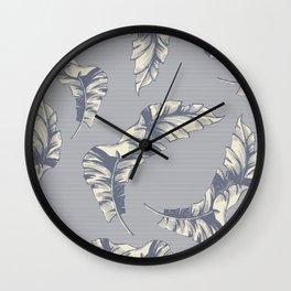 tropical gentle falling leaves Wall Clock