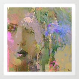 The nameless girl Art Print
