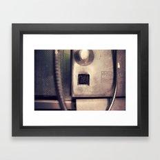 Pay Phone VI Framed Art Print