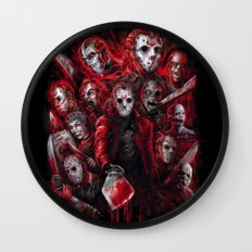 Jason Voorhees Friday the 13th Many faces of Wall Clock