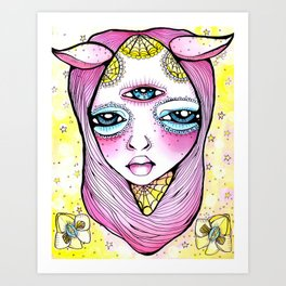 Mildred was Stuck Between Life and Death Art Print