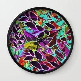 Floral Abstract Artwork G128 Wall Clock