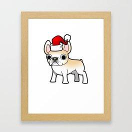 French Bulldog Christmas Shirt Framed Art Print