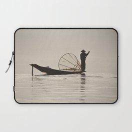 Fisherman at Inle Lake Laptop Sleeve
