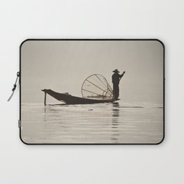 Fisherman at Inle Lake Laptop Sleeve