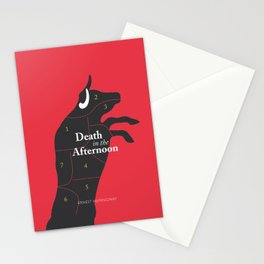 Ernest Hemingway book cover & Poster, Death in the Afternoon, bullfighting stories Stationery Cards