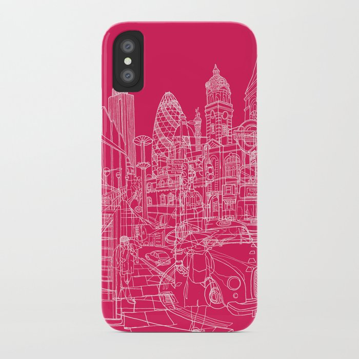 London! Hot Pink iPhone Case