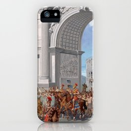 Classical Masterpiece: Roman Legion in Triumphal Procession by Herbert Herget iPhone Case