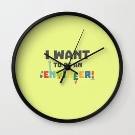 Be an Engineer T-Shirt for all Ages Df792 Wall Clock