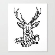 My Dear Deer Canvas Print