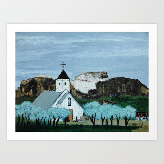 Superstition mountain Art Print