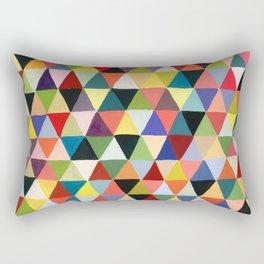 Black Geometry Rectangular Pillow