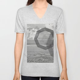 We Took Our Temperatures; You Were Hot, The Beach Denied Unisex V-Neck