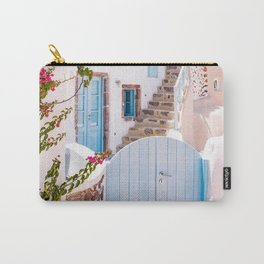 Santorini, Floral Garden Carry-All Pouch