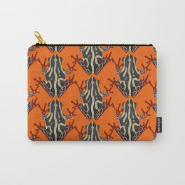 congo tree frog orange Carry-All Pouch