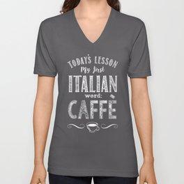 Italian Lessons / Coffee Unisex V-Neck