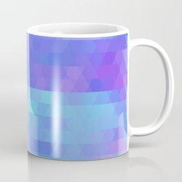 Athena abstract geometric in purple, aqua Coffee Mug