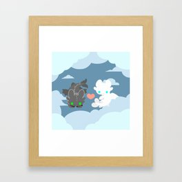 TOOTHLESS and HIS GIRLFRIEND Framed Art Print