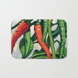 Chili Peppers by KPC Studios Bath Mat