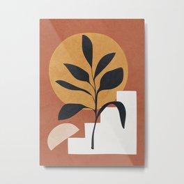 Abstract Plant Art Metal Print