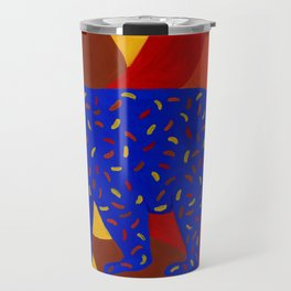 Bear Silhouette with Autumn-Colored Sprinkles Travel Mug
