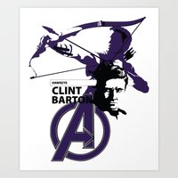 clint barton Art Prints featuring Clint by Mad42Sam