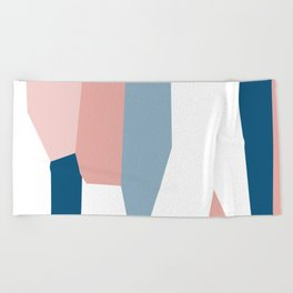 Peachy blue 2 Beach Towel