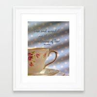 scandal Framed Art Prints featuring Love and Scandal... by Karen Lewis