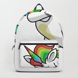 Dabbing Unicorn Softball Funny Dancing Dab Gift Backpack