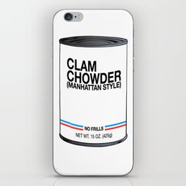 01 Clam Chowder iPhone Skin
