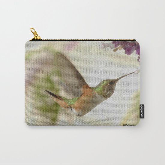 Ms. Hummingbird Checks Another Nectar Source Carry-All Pouch