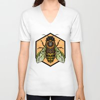bee V-neck T-shirts featuring Bee by Graham Diehl