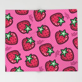 Strawberry - Laura Wayne Design Throw Blanket