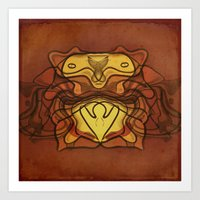 totem Art Prints featuring Totem by SensualPatterns