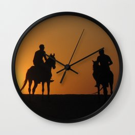 Three Horsemen Wall Clock