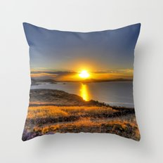 A Titicaca Sunset Throw Pillow