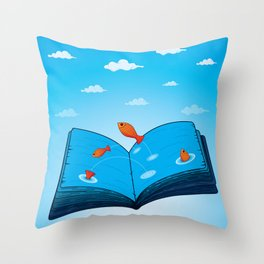 Sea of wisdom Throw Pillow