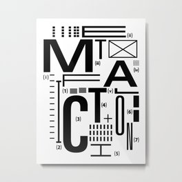 METAL FICTION Metal Print